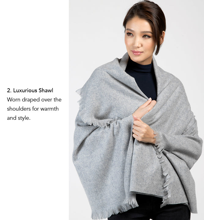 Cashmere Wrap by Etugen Cashmere, Cashmere Shawl