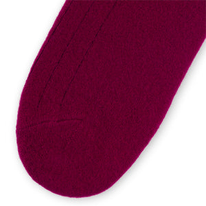 Men's Cashmere Socks - Burgundy