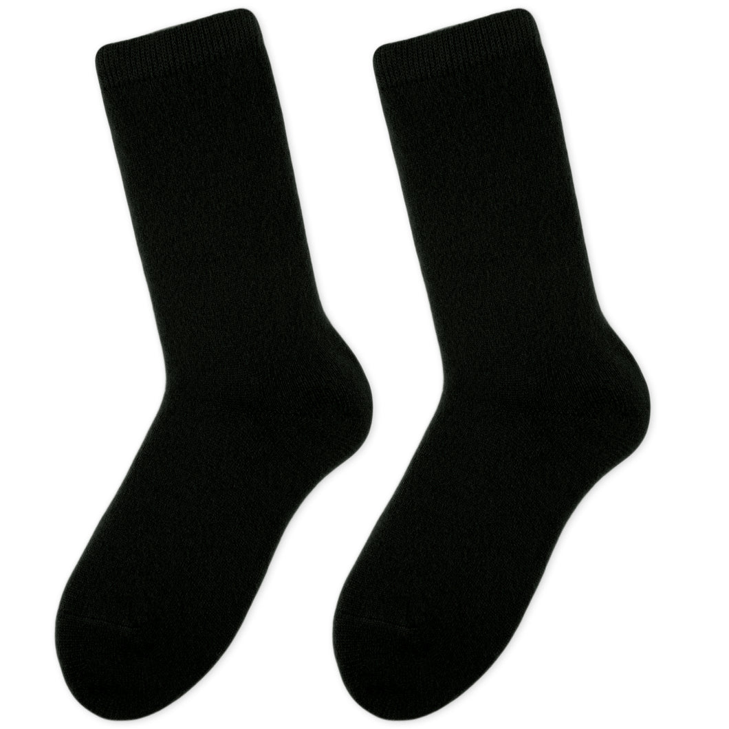 Cashmere socks women black Etugen