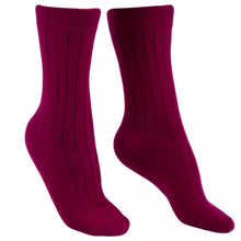 Cashmere socks men burgundy Etugen