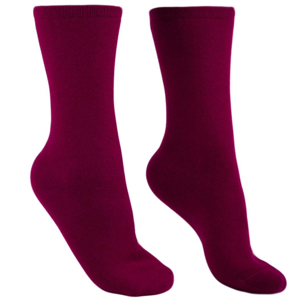 Pure cashmere socks men burgundy Etugen