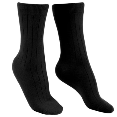Cashmere socks men black Etugen