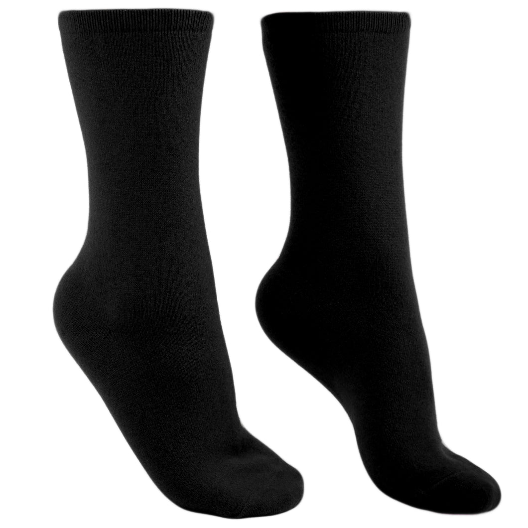 Pure cashmere socks men black Etugen