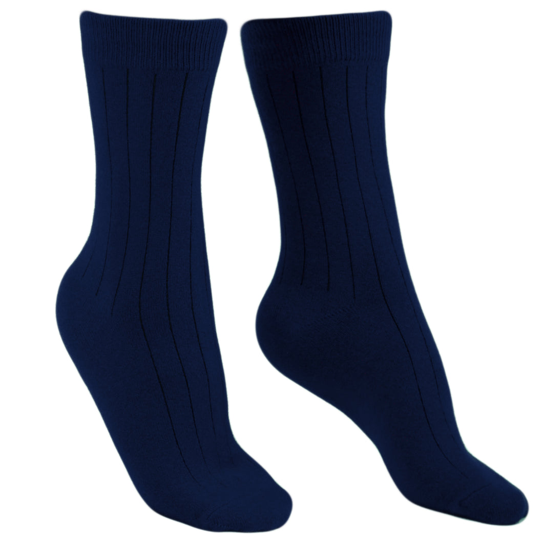 Cashmere socks men navy Etugen