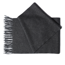 Charcoal Black Cashmere Scarf by Etugen