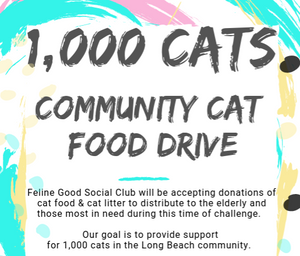 1,000 Cats: A Food & Litter Drive For Our Community