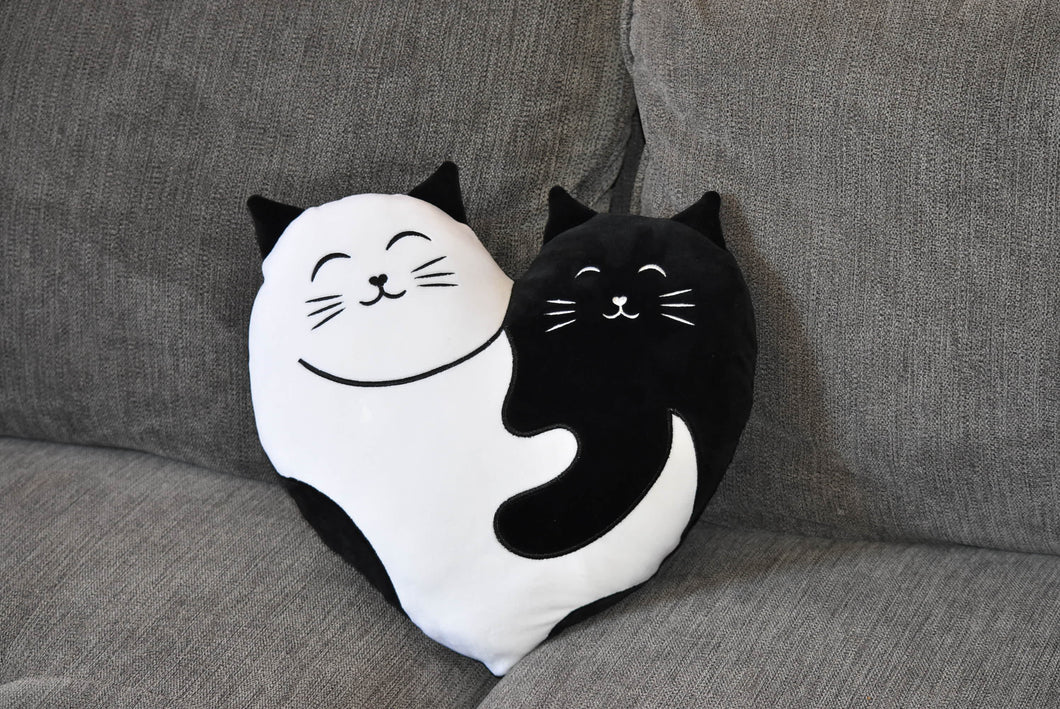 Feline Good Social Club Logo Pillow
