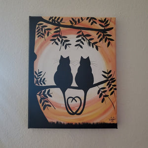Sunset Love - Cat Painting