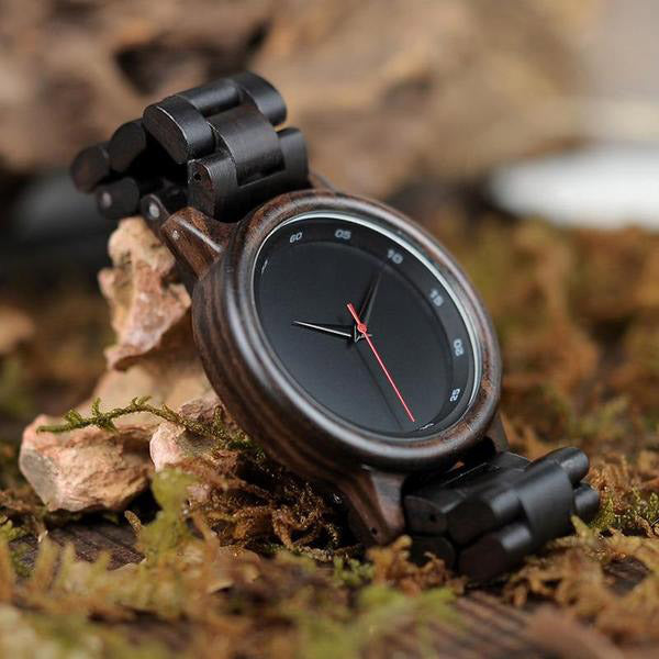 Bambu Dark Wooden Watch and Strap 1