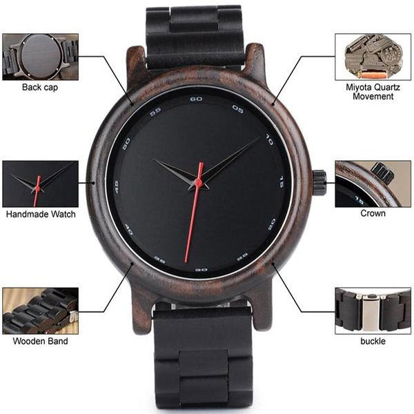 Bambu Dark Wooden Watch and Strap 4