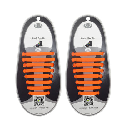 Elastic Silicone Shoelaces (Factory Outlet Price! 60% OFF!)