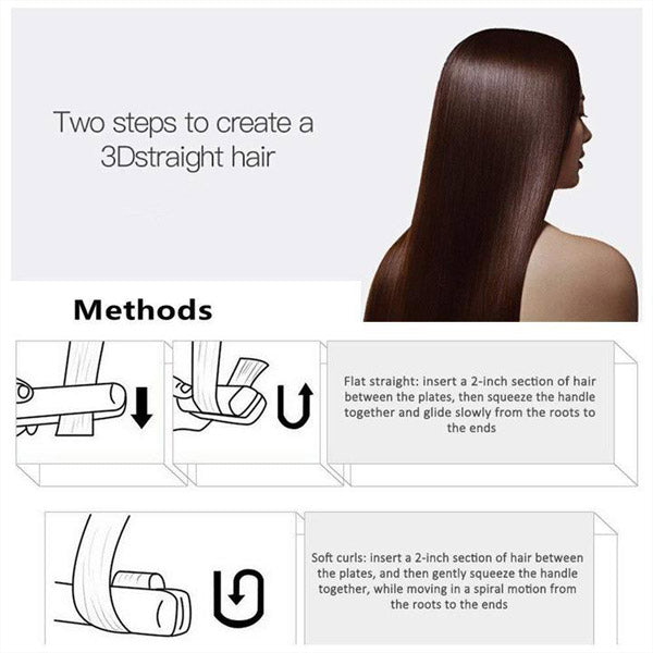 2-in-1 Professional Steam Hair Straightener 4