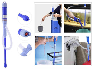 Electric Battery Operated Powered Liquid Transfer Siphon Pump with Bendable Suction Tube