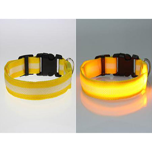 8 Color S M L Size Glow LED Dog Night Safety Collars