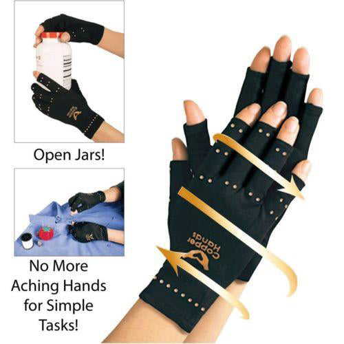 Anti Arthritis Copper Compression Therapy Hand Gloves