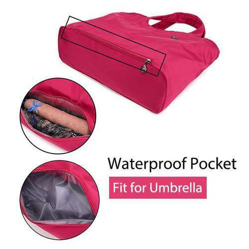 Big Capacity Oxford Shoulder Bag with Waterproof Compartment for Umbrella
