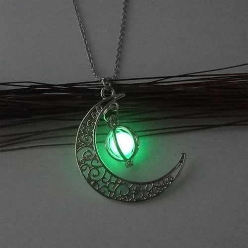 Charm Luminous Stone Pendant Necklace