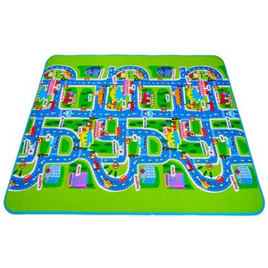 City Road Map Puzzle Rug for Children