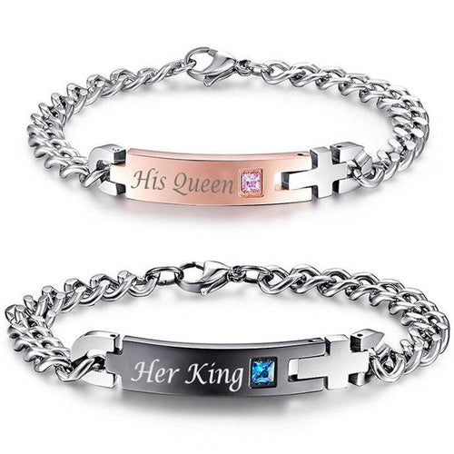His Queen, Her King Couple Bracelets
