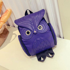 Leather Owl Backpack