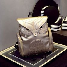 Load image into Gallery viewer, Leather Owl Backpack