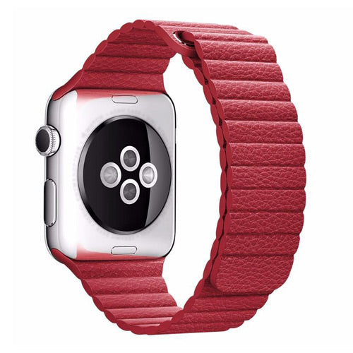 Magnetic Leather Loop Apple Watch Strap