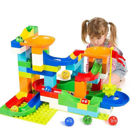 Marble Puzzle Race Track Toy Set