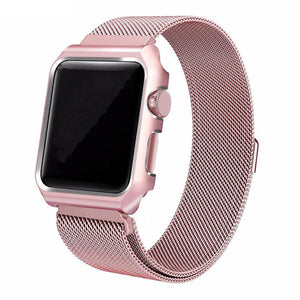 Milanese Stainless Steel Apple Watch Strap with Case