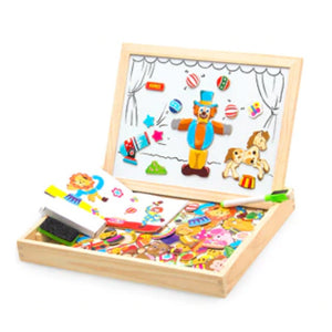 Wooden Magnetic 100pcs Puzzle