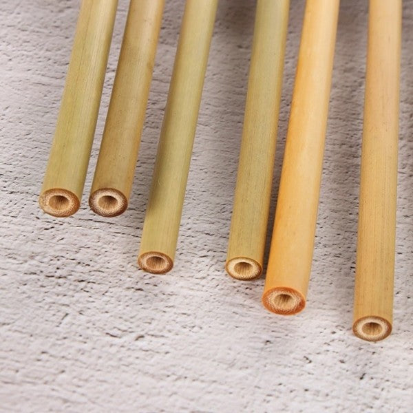 Natural Bamboo Straws (Reusable, Eco Friendly, 5PCs per set)