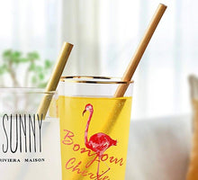 Load image into Gallery viewer, Natural Bamboo Straws (Reusable, Eco Friendly, 5PCs per set)