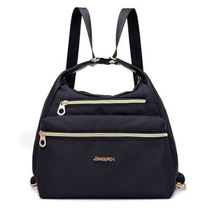 Women Nylon Waterproof Double-sided Multi-functional Shoulder Bag Backpack