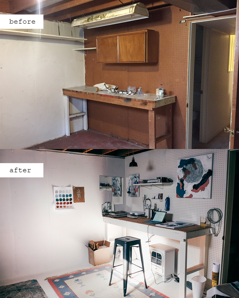 Before & After: Home Studio Renovation!