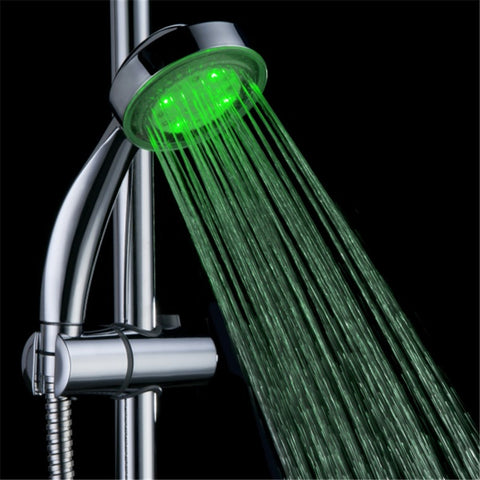 Temperature Sensing LED Shower Head