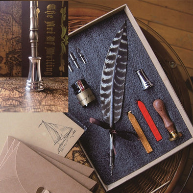 WingGraph - Antique Feather Calligraphy Dip Pen Complete Set