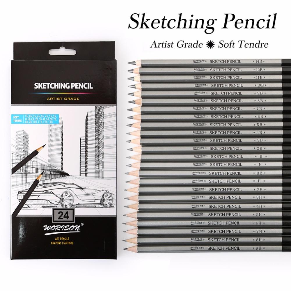 Professional sketching pencil set