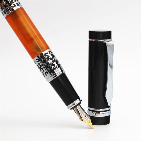 ArtGraph Line - Carved Glass Fountain Rollerball Pen