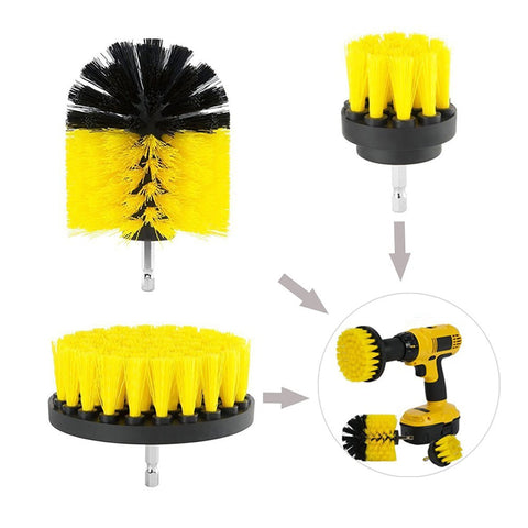 Cleaning Brush Drill Set