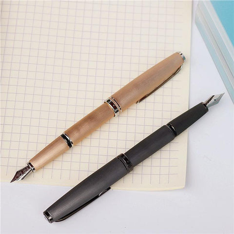 Classic Brushed Metal Fountain Pen