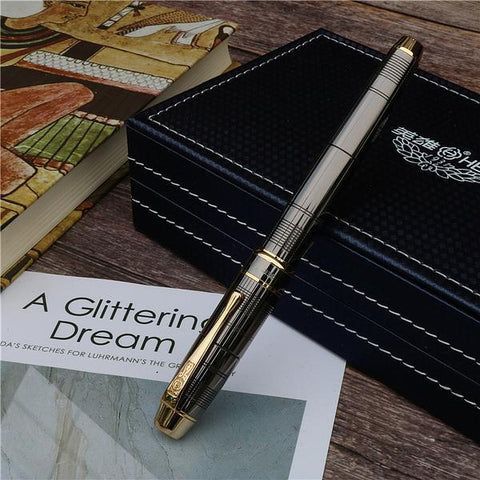 Royal Grey Full Metal Fountain Pen
