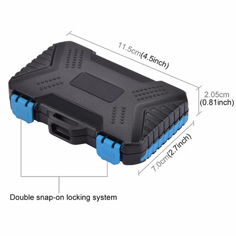 Shockproof Memory Card Case Reader