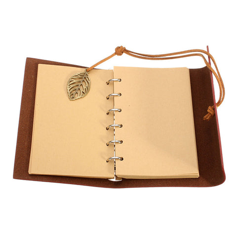 Vintage Leaf Leather Notebook