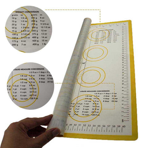 Extra Large Silicone Baking Mat with Scale