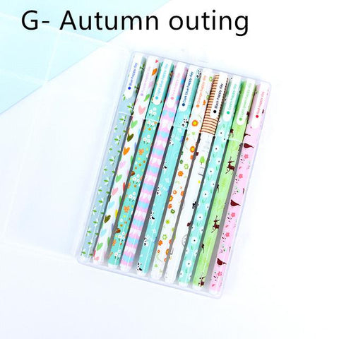 Cartoon Color Gel Pen 10 pcs Set