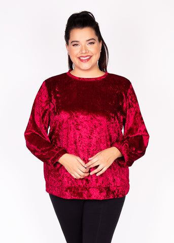 Paisley Raye Holly Sweatshirt velvet