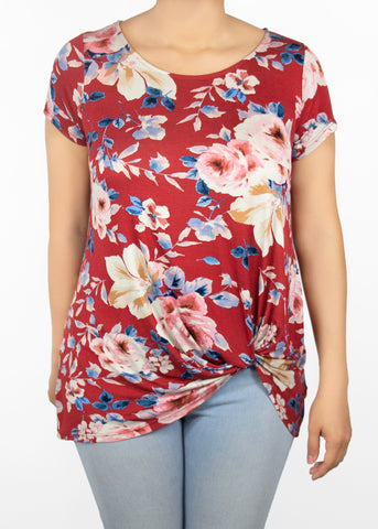 Paisley Raye Nerine Tee knotted t-shirt floral