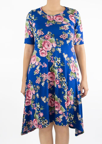 Poppy - Royal Blue Floral