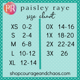 Size Chart Paisley Raye Jogger Pants / Plus Size Friendly / Courage and Chaos Boutique
