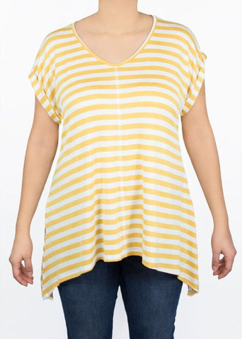 Tulip Tee - Yellow Stripe