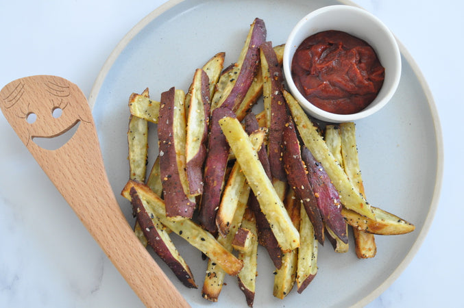 Air Fried Japanese Sweet Potato Fries